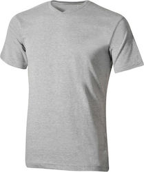 Etirel Basic V Neck SS Tee 505065 Grey Mel
