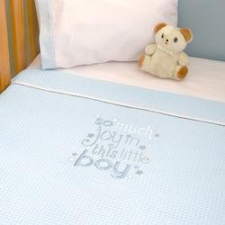 d00d5bf071f Baby Oliver Κουβέρτα Αγκαλιάς My Little Blue Joy Des. 303 Πικέ 100x80  46-6721/303 Μπλε