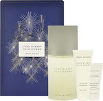 Issey Miyake L`Eau D`Issey Pour Homme Eau de Toilette 125ml, Shower Gel 75ml & Aftershave Balm 50ml