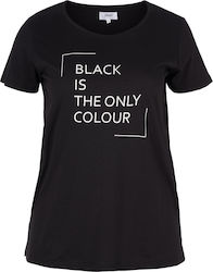"T-shirt σε μαύρο χρώμα με τύπωμα ""Black is the only colour"""
