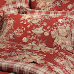 Down Town Home Πάπλωμα Υπέρδιπλο 235x250 S695 Floral Red