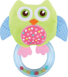 Lorelli Bertoni Rattle With Ring Green Owl