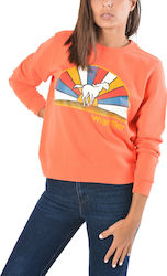 Wrangler Horse Logo Women's Sweater W6077HQ48 - GLOW ORANGE