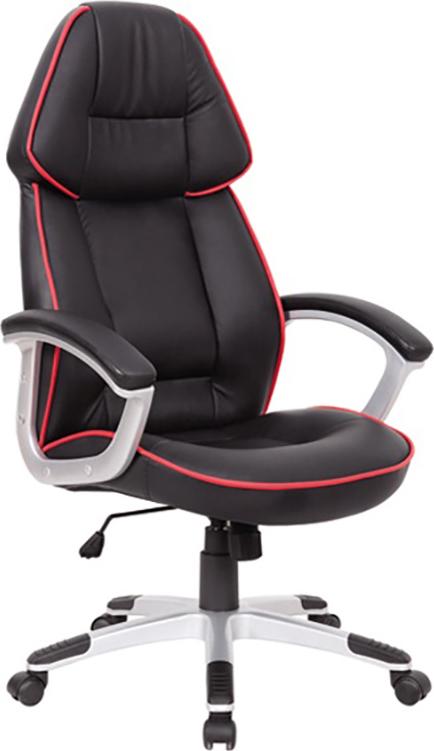 ES Market Καρέκλα Γραφείου EPYΘEIA Μαύρο PU 68x65x122-132cm