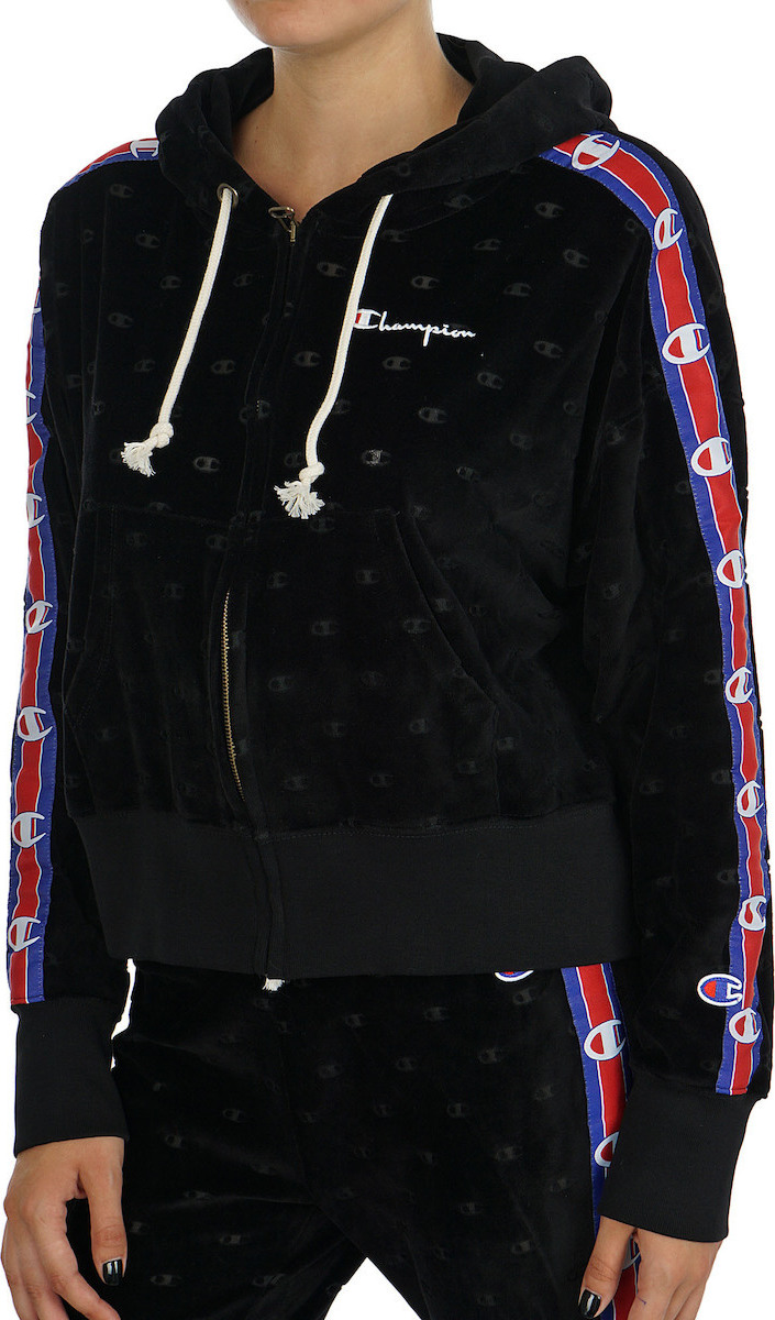 c3c33306891d Champion Burnout Logo Effect Cropped Velour Hoodie 111045-KL001 ...