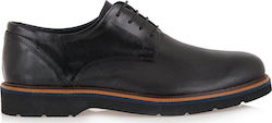 STEVE KOMMON LACE-UP SHOES H579V9821002 - ΜΑΥΡΟ ΔΕΡΜΑ