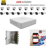 HIKVISION SET 1MP DS-7116HGHI-F1 + 8 ΚΑΜΕΡΕΣ HIKVISION DS-2CE56C0T-IRMF 3.6mm + 8 ΚΑΜΕΡΕΣ HIKVISION HiLook THC-B210 2.8mm 1 TB WD Purple