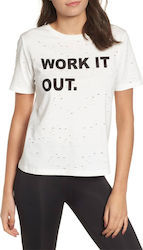 KENDALL and KYLIE ACTIVE WORK IT OUT T-SHIRT KCA.8W2.016.001 ΓΥΝΑΙΚΕΙΟ KENDALL & K ΛΕΥΚΟ (KKF18L21148KW)