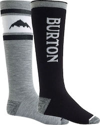 Burton Weekend Midweight 2 Pack Snowboard Socks - True Black