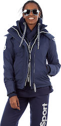 Superdry Arctic Hooded Pop Zip Windcheater Blue