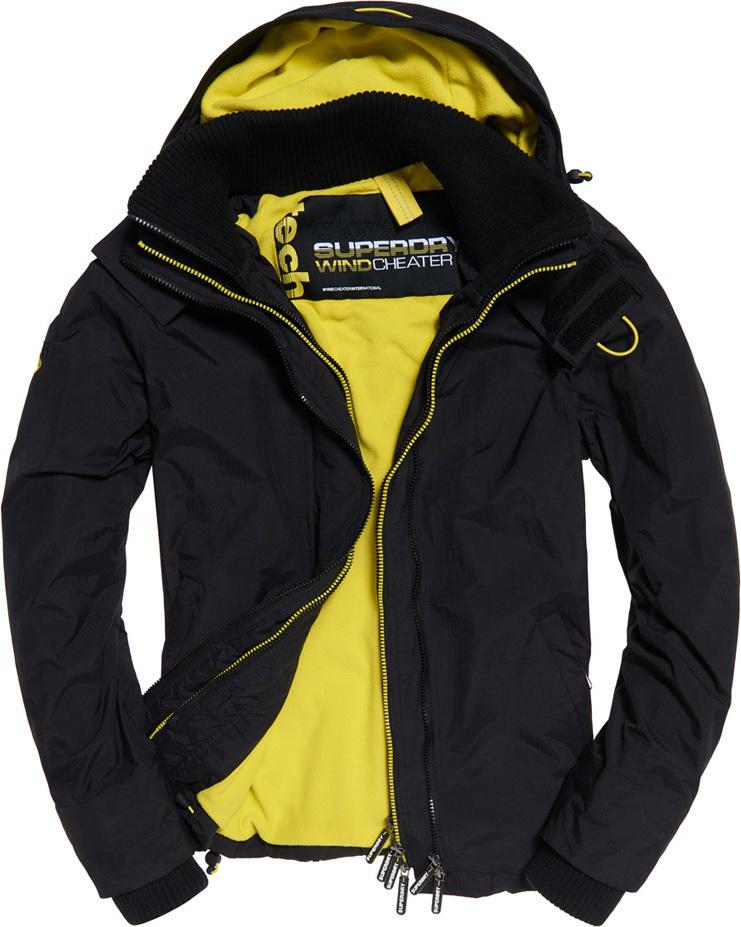 Superdry Casual Arctic Hood Pop Zip Windcheater Μαύρο Με Κουκούλα ... 76590c0d441