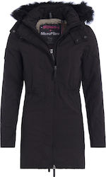 Superdry Microfibre Parka Black Cream