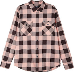 OBEY Vedder Shirt - Pink Multi - 181200245