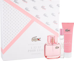 Lacoste L.12.12 Pour Elle Sparkling Edt 50ml, Edt 7,4ml & Shower Gel 50ml