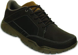 CROCS SHOE ΔΕΡΜΑ ESPRESSO/WALNUT SWIFTWATER HIKER M