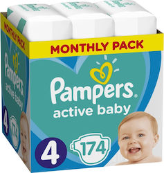 Pampers Active Baby Monthly No 4 (9-14kg) 174τμχ