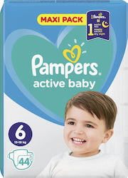 Pampers Active Baby Maxi Pack No 6 (13-18kg) 44τμχ