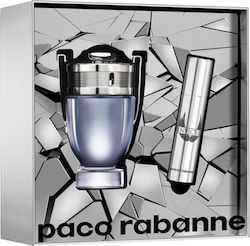 Paco Rabanne Invictus Eau de Toilette 50ml & Travel Spray 10ml