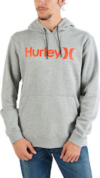 Hurley Men's Surf Check One&Only Pullover - Ανδρικό Φούτερ AQ0773-064 - DK GREY HTR/(TEAM RED