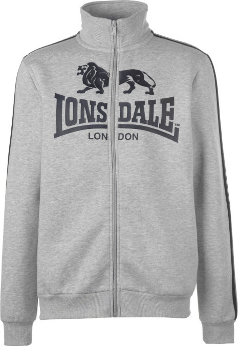 2c4c75d658b2 Lonsdale 2 Stripe Zip Though Jacket 554344 Grey Marl Black - Skroutz.gr