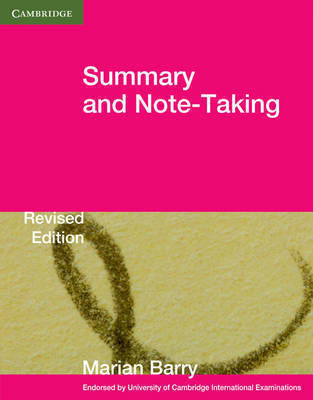 SUMMARY & NOTE-TAKING FOR IGCSE IGCSE Student 's Book WO/A REVISED