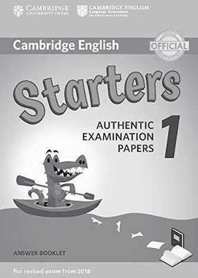 CAMBRIDGE YOUNG LEARNERS ENGLISH TESTS STARTERS 1 ANSWER BOOK (FOR REVISED EXAM FROM 2018) N/E