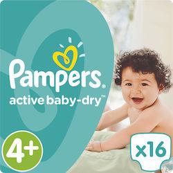 Προσθήκη στα αγαπημένα menu Pampers Active Baby Dry No4+ (9-18kg) 16τμχ 3fd46ee3732