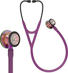 3M Littmann Cardiology IV 6205 Plum & Rainbow Finish Violet Stem