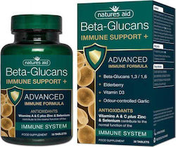 Natures Aid Immune Support+ wirh Beta Glucans 30 ταμπλέτες