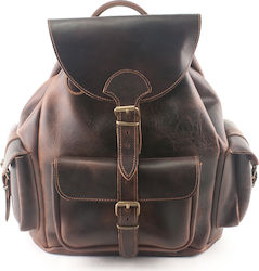 Kouros Leather Bag 405 Dark Brown