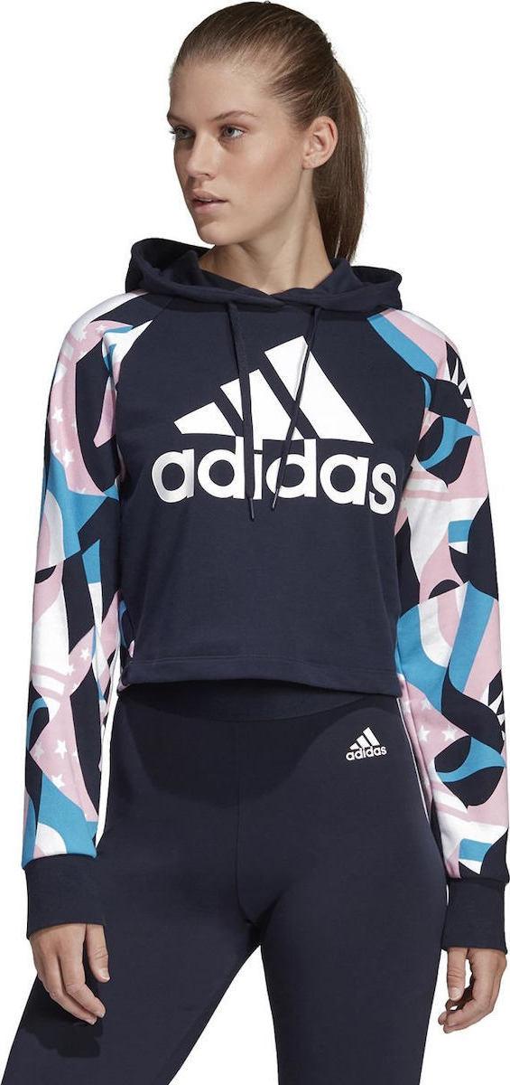 Adidas Sport ID Printed Crop Hoodie DU0231 - Skroutz.gr 6100d3f5c9d