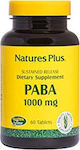 Nature's Plus Paba 1000mg 60 κάψουλες