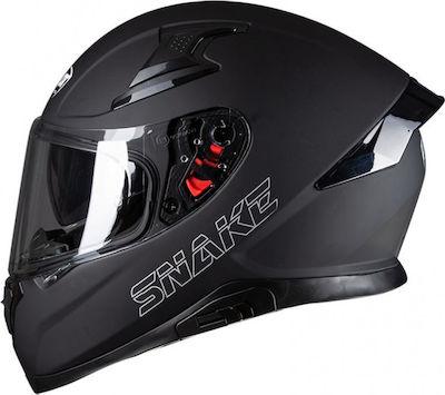 Pilot Snake Black Matt Κράνος Μηχανής Full Face 1500gr με Sunvisor