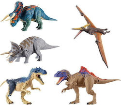 Mattel Jurassic World Dual Attack Dino Action Figure Collection (Διάφορα Σχέδια)