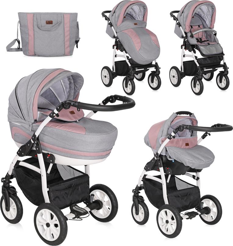 2511f35a36c Προσθήκη στα αγαπημένα menu Lorelli Bertoni Kara 3 in 1 Grey/Pink