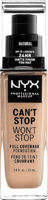 Nyx Professional Makeup Can't Stop Won't Stop CSWSF07 Natural 30ml