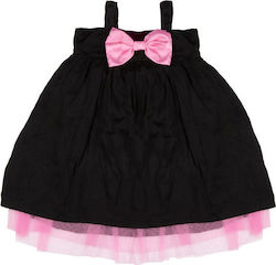 """ef1672a7ccc Παιδικό φόρεμα The Tiny Universe """"Tiny Shoulders Dress"""" Black & Pink 68"""