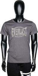 808a8e40e419 Everlast Velvet Printed Logo Cotton T-Shirt M146J35-GR