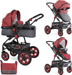 Lorelli Bertoni Lora 2 in 1 Black & Dark Red