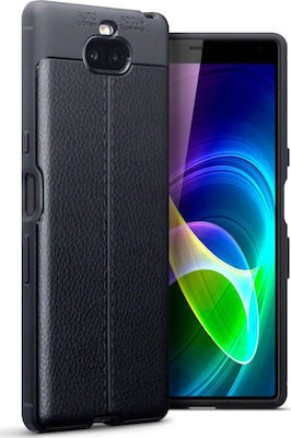 Terrapin Leather Texture TPU Back Cover Μαύρο (Xperia 10)