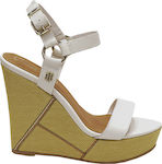 Tommy Hilfiger Elevated Leather Wedge Sandal FW0FW03943-121