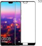 Powertech 5D Full Glue Full Face Tempered Glass Black (Huawei P20)