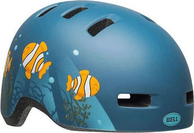 Bell Lil Ripper Clown Fish Matte Gray-Blue