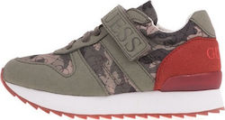 fa23e5d24e1 GUESS KIDS - Αγορίστικα sneakers GUESS KIDS RUDY χακί