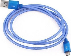 Esperanza Braided USB 2.0 to micro USB Cable Μπλε 2m (EB181B)