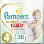 Pampers Premium Care Pants No 4 (9-15Kg) 38τμχ