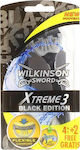 Wilkinson Xtreme 3 Black Edition 4 + 2 Δώρο 6τμχ