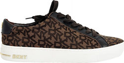 52287b55aa DKNY ΠΑΠΟΥΤΣΙΑ SNEAKERS COURT-LACE UP LOGO ΚΑΦΕ