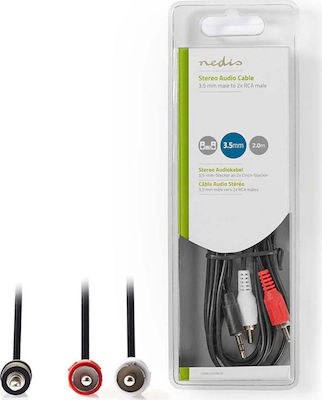 Nedis Cable 3.5mm male - 2x RCA male 2m (CAGB22200BK20)