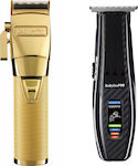 Babyliss Pro Cordless FX8700 & Pro Cordless Trimmer FX59 Gold